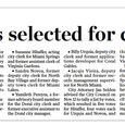 Six finalists selected for city clerk 2013