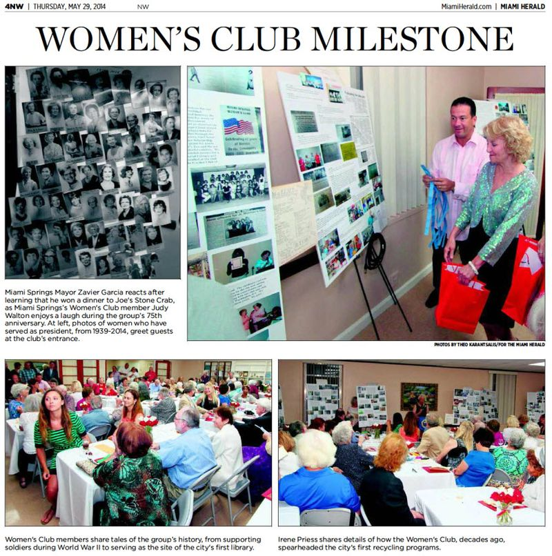 Women's Club milestone 2014